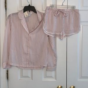 Pink striped pajama set